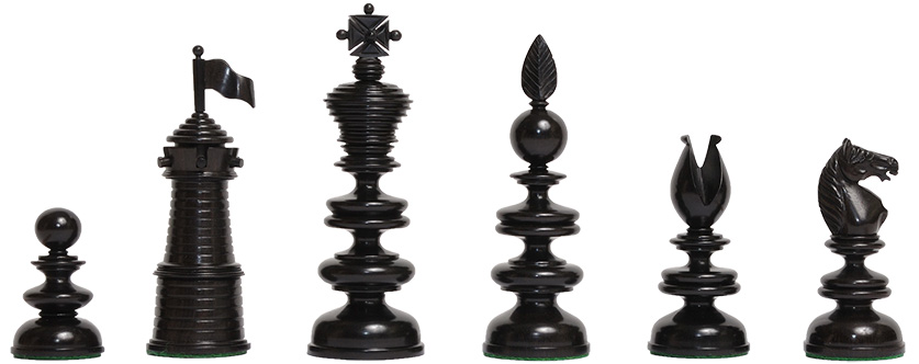 Thomas Lund 1820 Chess Pieces
