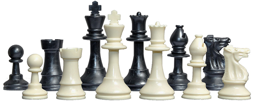 Plastic Tournament Chess Pieces